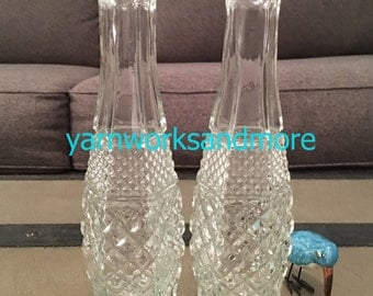 Wexford Vases, Lot Of 2, Anchor Hocking Wexford, Wexford Bud Vases, Lot Of Vases, Vintage 1970s Vases