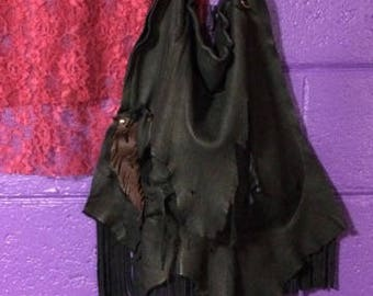 MELT~~ Drippy~ Organic~ Soft Deerskin Purse~ Enchanting~ Raw~ Edgy~ Avant Garde~ One of a Kind~