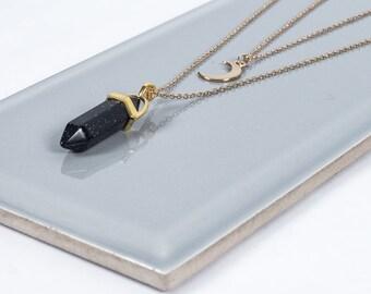 Blue Sand Gemstone Necklace
