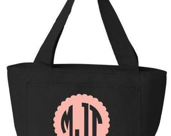monogram insulated cooler bag insulated lunch bag breast milk transport bag reusable