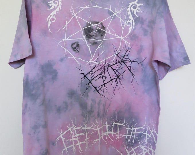 TRVP H0U5E T-shirt with w tribal and pentagram print