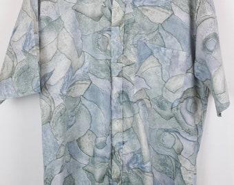 Vintage shirt, 90s clothing, shirt 90s, pattern, short sleeves, oversized