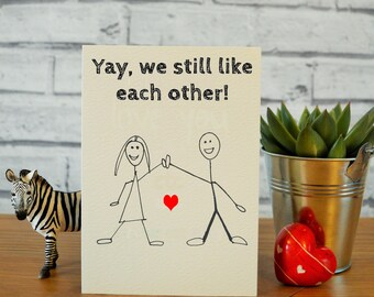 Funny anniversary card, cards for husband, card for boyfriend, cards for him, card for him, funny valentines card, valentines day card wife