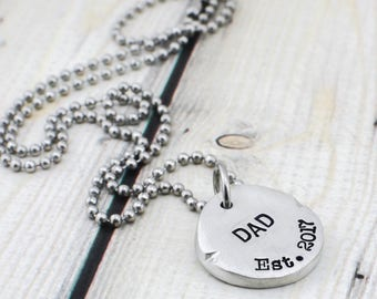 Custom Dog Tag Necklace for Men Personalized Mens Jewelry