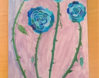 The Blooming Blue Roses