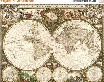 Old World Map Cross Stitch Pattern Pdf old map pattern point de croix korss - 496 x 387 stitches - INSTANT Download - B282