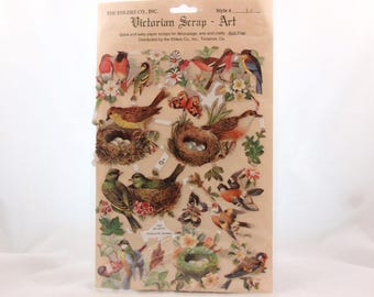 Vintage Quick and Easy Paper Scraps for Decoupage, Arts and Crafts. Birds 7069