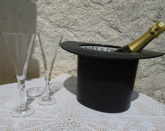 Genuine vintage Moet and Chandon, Ice Bucket top hat.