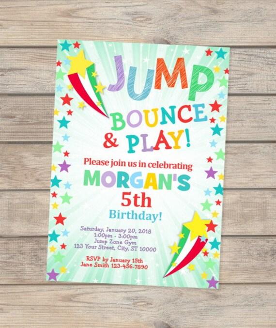 Jump birthday invitation jump party invitation bounce birthday il570xn stopboris Images