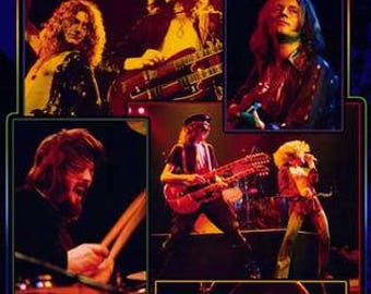 Led Zeppelin Collage Giant 39x54 Rare Poster