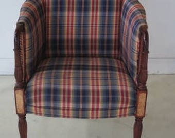 42862e southwood inlaid mahogany sheraton upholstered chair