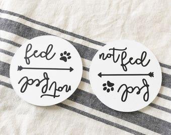 Fed/Not fed Dog Magnet | Dog Food | Dog Magnet