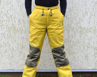 Vintage 90s Skiing Pants Winter Hipster Snow Pants Skiing Trousers Mustard Yellow Mountain Ski Trousers O'NEILL sportwear Medium Size