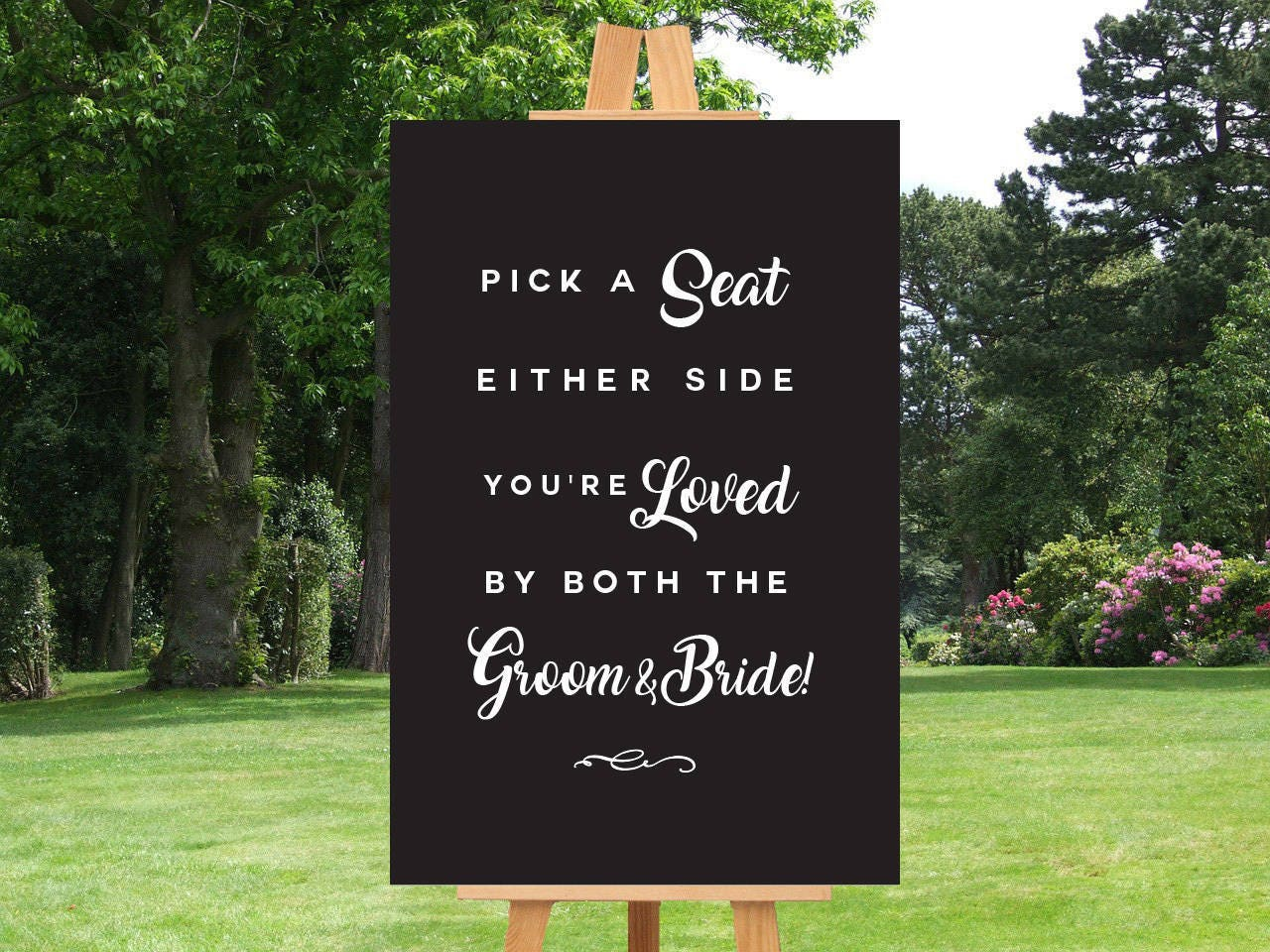 Wedding SEATING Sign Pick A Seat Ceremony Sign Pick a Seat