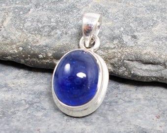 Tanzanite and 925 Silver Solitaire Pendant
