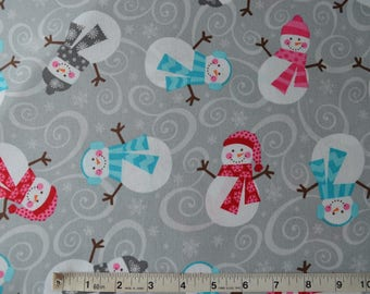 Item 474, 100% Cotton, Brother Sister Design Studio, Snowmen, By the Yard