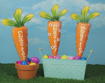 "Easter Carrot Pick""s - Set of 3 / Wreath Supplies/Easter Decoration/66838"