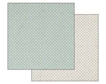 Scrapbooking paper, cardstock double sided polka dot turquoise background