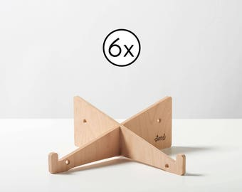 6x Laptop Stand made of Wood (Office Pack)