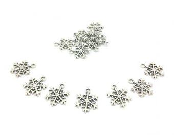 50 snowflakes charm