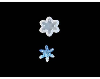 Silicone mold 39mm for creations snowflake resin polymer clay