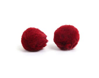 10 soft plush 35mm color red tassels