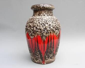 "Scheurich Fat lava vase ""Lora"" decor vintage German ceramics"