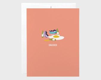 Smashed Easter Egg Card | Funny Easter Card | Drunk Easter Egg Card