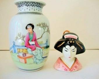 Oriental Vase ~ Japanese Geisha Pompadour