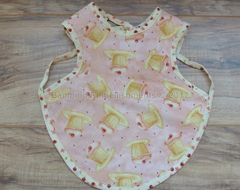 READY To Ship! Cupcake Bapron, Full Coverage Bib, Art Smock,Baby Toddler Apron Bib,Baby Bib, Tie On Baby Bib, Toddler Bib,Full Coverage Bib