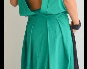 ON SALE Maxi long dress / Loose Long Dress / Green Oversize dress/ Woman Loose dress / Open back dress