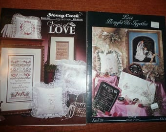 Stoney Creek Collection wedding Cross Stitch Patterns Vows Of Love,Love Brought Us Together