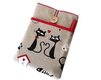 Lovely Cats Macbook Sleeve, Macbook Air Case, Laptop sleeve, Custom size macbook, macbook pro sleeve, Padded macbook case, 12inch macbook