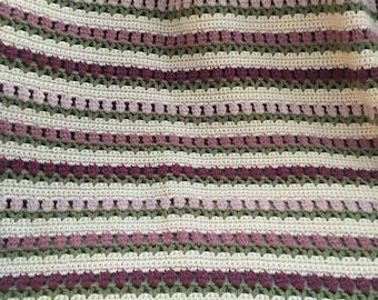 Summer Blanket - Crochet Blanket - Crochet Throw - Afgan Blanket  - Crochet Afgan - Armchair Throw - Knit Blanket - Handknit Blanket