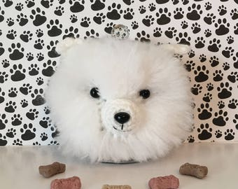 White Pomeranian - Gifts for Dog People - I Love My Pomeranian - Dog Treat Jar - I love Pomeranian - Dog Mama - Fur Mama - Fur Kid