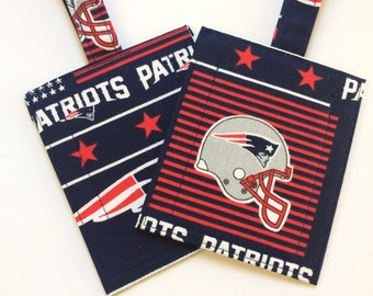 Handmade NFL New England Patriots Football Luggage/Stroller/ID/Backpack/Purse Tags