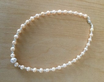 Pink Freshwater Pearl Necklace with white Freshwater Pearl