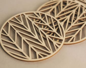 Unique coasters, Geometric drink coasters, Christmas gift idea, Foodie gift, Laser cut coasters, Drink coasters, Modern coasters