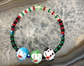 Adorable Glass Penguin Beaded Bracelet