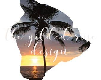 Hawaii Digital Print | Big Island Hawaii | Kona-Kailua Print