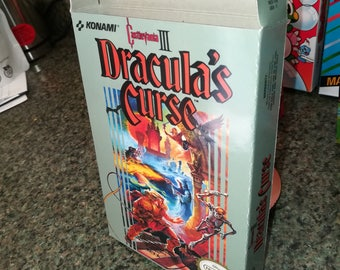 Castlevania III 3 NES Nintendo Entertainment System Reproduction Box! Best Repros in the world!