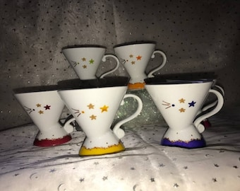 6 cups coffee - stars-