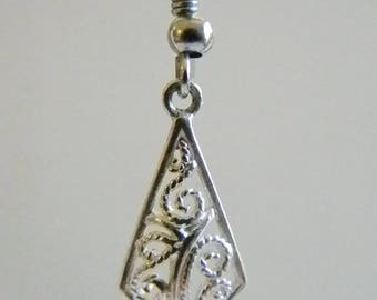 Dainty 925 Sterling Dangle Pierced Earrings