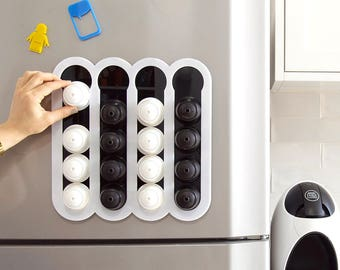 Dolce Gusto Coffee Pod Holder , Coffee Storage ,White Kitchen Organizer Design, Kitchen Accessory, Magnetic Wall Mount kitchen Decor Gift