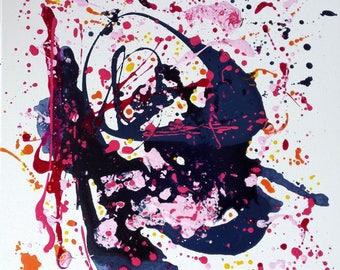 abstract art painting 50 x 50 cm paradox, dreams