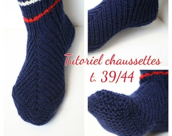 Tutorial knitted socks 39/44.