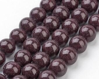4mm Mashan Jade Beads Brown Round 4mm Mashan Jade 4mm Brown Jade Jade 4mm Brown Beads Candy Jade 4mm Brown Beads 4mm Mountain Jade