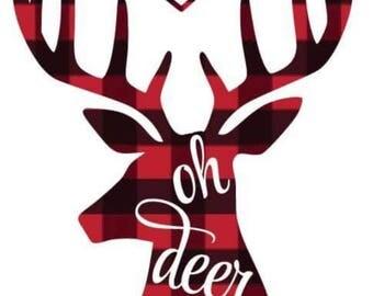 Deer Decal Etsy