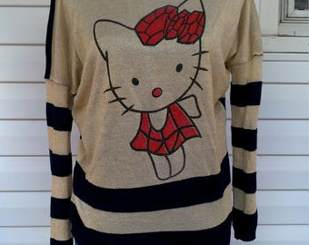 Vintage Hello Kitty Light Weight Sweater Top Size Large