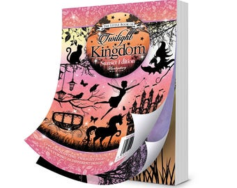 Hunkydory The Little Book of TWILIGHT KINGDOM Sunset Edition Card Making Papercraft 144 Paper Topper Sheets Fairy Castle
